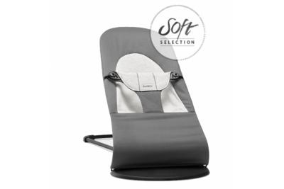 Шезлонг детский Balance Soft Cotton/Jersey Темно серый/Серый 0050.84.