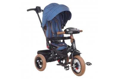 Трехколесный велосипед Mini Trike T400-17 DARK BLUE JEANS