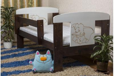 Кровать детская от года Animals Экко (массив березы) размер 140х70.