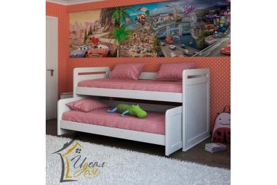 Выдвижная кровать Гармония (из массива сосны).