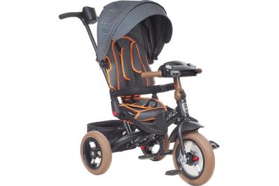 Трехколесный велосипед Mini Trike T400-17 BLACK JEANS Черный.