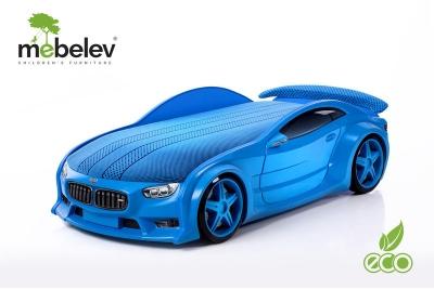 """Кровать-машина NEO """"БМВ"""" синий."""