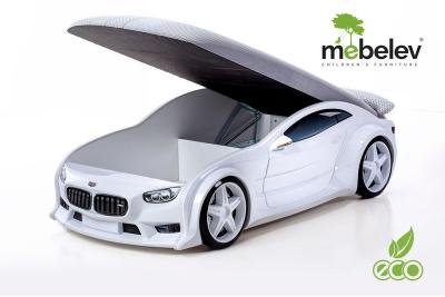 """Кровать-машина NEO """"БМВ"""" белый."""