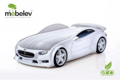 """Кровать-машина NEO """"Тесла"""" белый."""