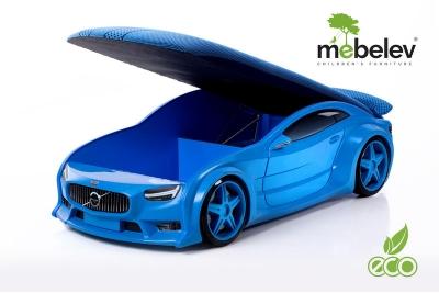 """Кровать-машина NEO """"Вольво"""" синий."""