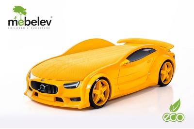 """Кровать-машина NEO """"Вольво"""" желтый."""