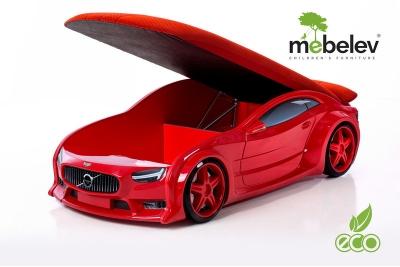 """Кровать-машина NEO """"Вольво"""" красный."""