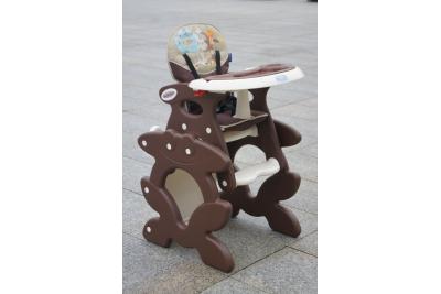 Стульчик для кормления трансформер Beticco Bambini Шоколад.