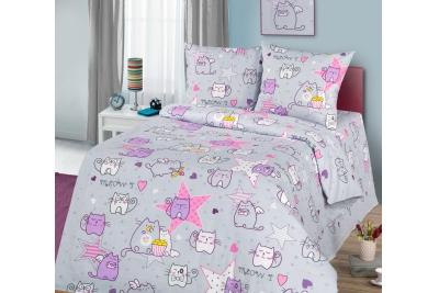 Детское постельное для подростков «Мяу-мяу». (бязь)