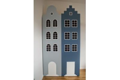 """Шкаф домик  """"Настоящий Амстердам"""" из серии эконом."""