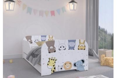 """Кровать подростковая Оскар XL """"Zoo"""" с матрасом."""