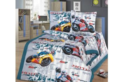 Детское постельное для подростков «Гонки». (бязь)