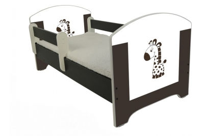 """Кровать детская от года модель Оскар """"Жираф шоколадный"""" с матрасом."""