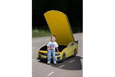 Детская кроватка-машинка КАМАРО-М Шевроле с подсветкой фар.