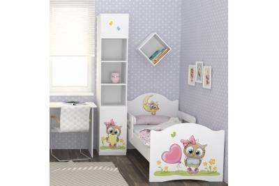 """Кровать детская от 3х лет с бортиками Oskar """"Маленькая Совушка"""" c матрасом."""