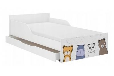 """Кровать подростковая Max XL """"Animals"""" с матрасом."""