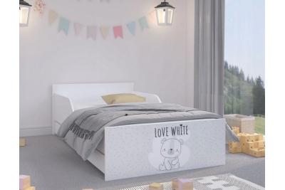 """Кровать подростковая Max XL """"Белый мишка"""" с матрасом."""