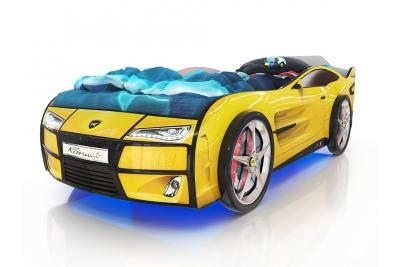 Кровать машина Ferrari yellow (желтый)