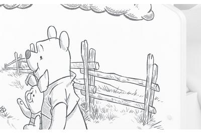 """Кровать детская от 3х лет Oskar   Disney """"Винни зарисовка карандашем"""""""
