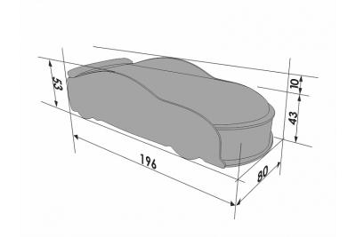 Детская кроватка-машинка Ауди A6 white с подсветкой фар.