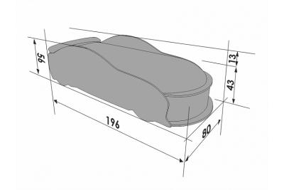 Детская кроватка-машинка Мерседес-М черная с подсветкой фар.