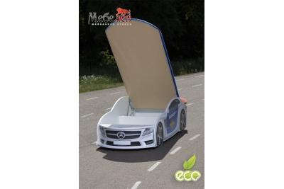 Детская кроватка-машинка Мерседес-М Police с подсветкой фар.