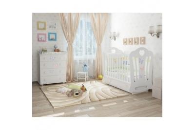 """Кроватка детская Laluca Шарлотта 3 """"Бабочки"""" (премиум)."""