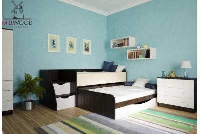 Выдвижная двухуровневая кровать Neo8.