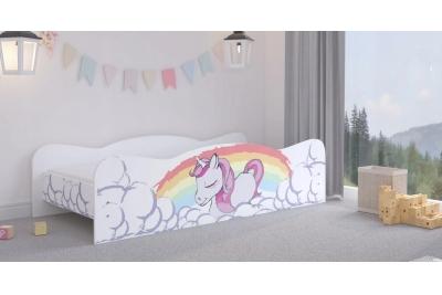"""Кровать подростковая Max XL """"Единорожек""""  с матрасом."""