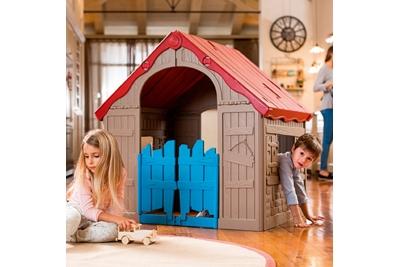Игровой Дом KETER Foldable Playhouse складной Бежевый-красный.