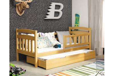 Кровать выдвижная 2-х уровневая детская Каспер 185/80 (с матрасами) цвет ольха.