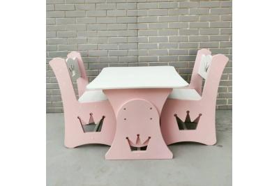 Детский столик растущий и стул МДФ Королевский (комплект 1+1)