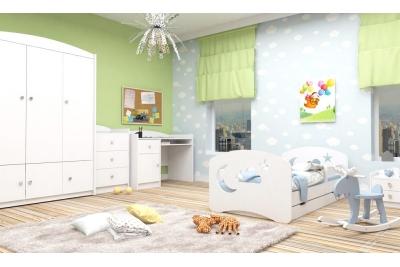 Кровать детская Камила-3 (облачко) с матрасом , бортиками и ящиком.