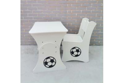 Детский столик растущий и стул МДФ Футбольный мяч