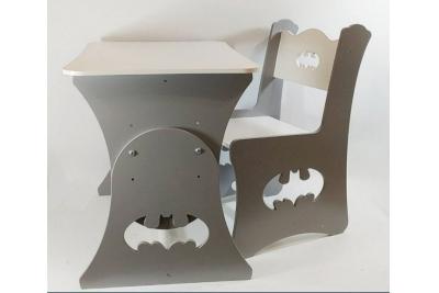 Детский столик растущий и стул МДФ  Супер герой (комплект 1+1)