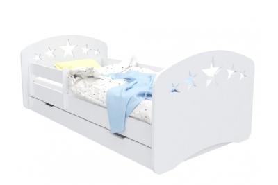 """Кровать детская с бортиками от 3х летКамила-2 """"5 звезд"""" с матрасом."""