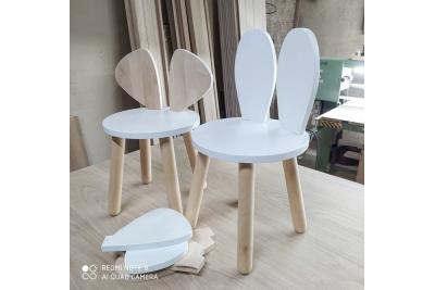 Детский столик и стульчик Зайка  (комплект 1+2)