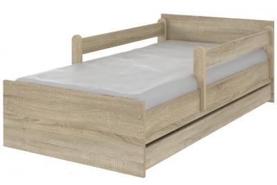 Кровать детская с бортиками Макс XL цвет дуб сонома.
