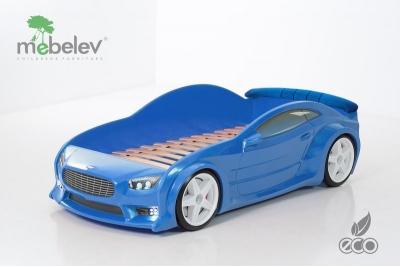 """Детская кровать-машина EVO """"АСТОН МАРТИН"""" синяя."""