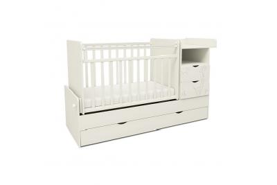Детская кроватка-трансформер СКВ 550031 цвет белый.