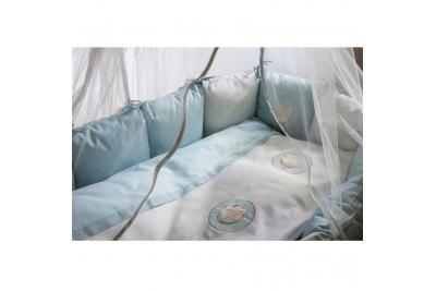 Постельноев круглую кроватку Lappetti Мишкина семья.