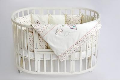 Постельное в круглую кроватку Lappetti Домик для птички.