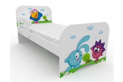 """Кровать детская с бортиками от 3-х лет """"Смешарики-1 """" с матрасом."""