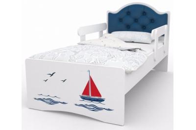 """Кровать детская с бортиками от 3-х лет """"Оскар Люкс"""" с бортиками и матрасом."""