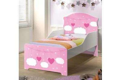 """Кровать подростковая Оскар XL """"Сердца"""" с матрасом."""