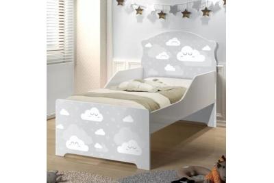 """Кровать подростковая Оскар XL """"серые облака"""" с матрасом."""