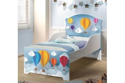 """Кровать подростковая Оскар XL """"парад шаров"""" с матрасом."""