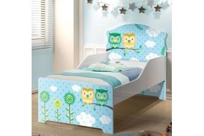 """Кровать подростковая Оскар XL """"совята"""" с матрасом."""