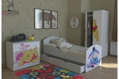 """Кровать детская от 3-х лет """"Малышок"""" арт.МЛ-1ПФ коллекция """"Винни и друзья""""."""