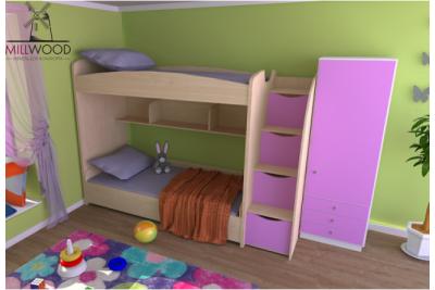Выдвижная двухъярусная кровать Neo9.
